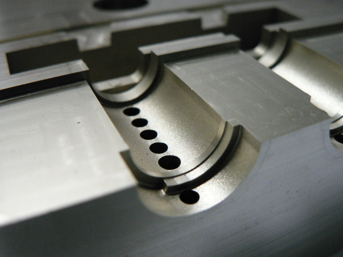 Injection Mold Coating Closeup