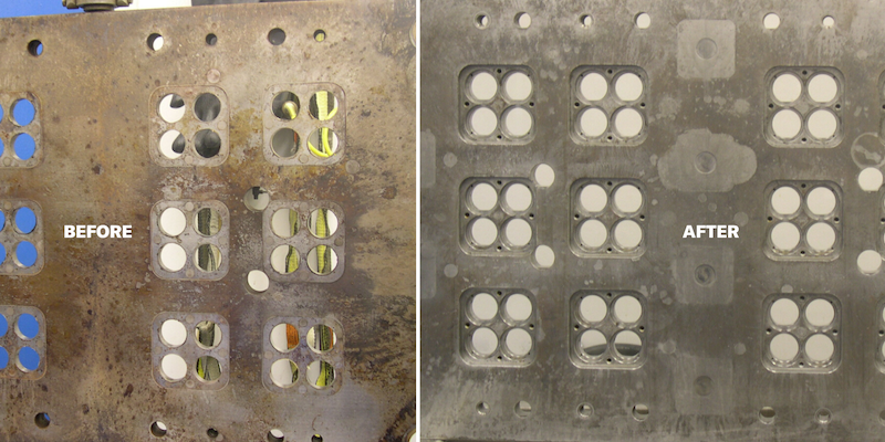 how to clean injection mold